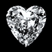 Diamond Cut Heart