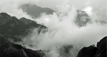 Huang Shan Day 1 Black and White