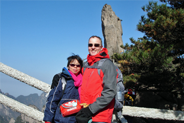 Me and May Flying Rock Huang Shan Day 2
