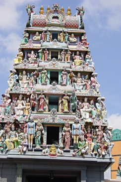 Sri Mariamman Temple Gate Singapore