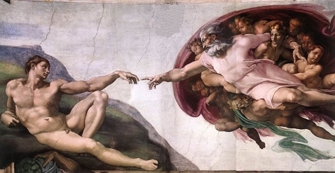 Detail of 'The Creation of Adam'